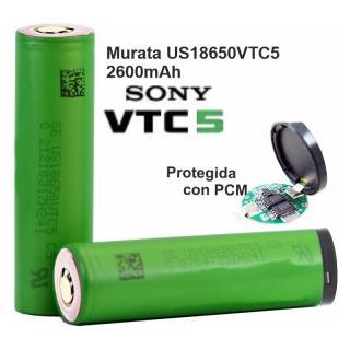 Aquas Bateria 18650 Celda Sony-Murata de 2600mAh