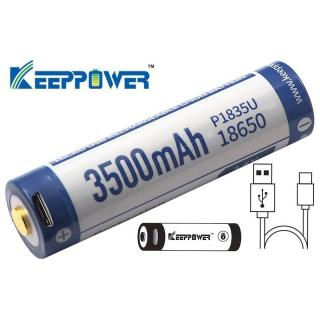 Aquas Pack 2 baterias 18650 de 3500mAh con USB