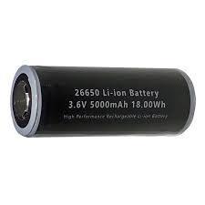Bateria litio 26650 3.7v y 5000mAh
