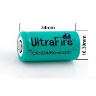 Ultrafire Baterias 3.0V ICR123 800mAh