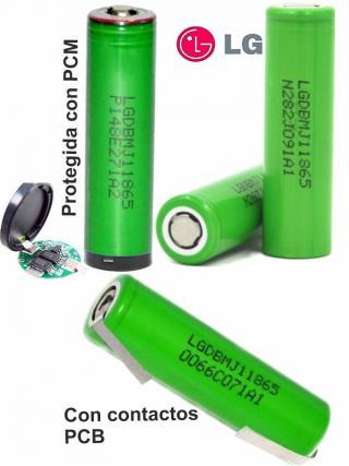 Aquas Bateria 18650 celda LG MJ1 con 3500mAh